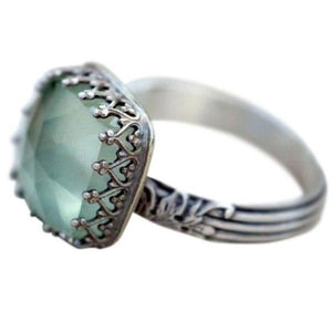 Vintage Mint Green Moonstone Ring