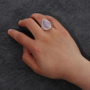 Water Drop Moonstone Ring