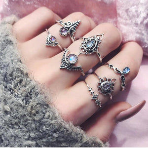 Bohemian Paisley Stackable Rings