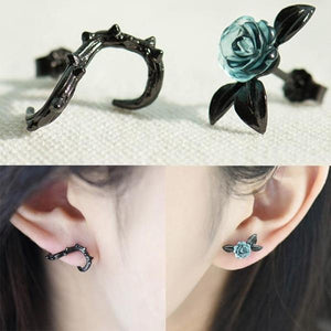 Rose and Thorn Stud Earrings