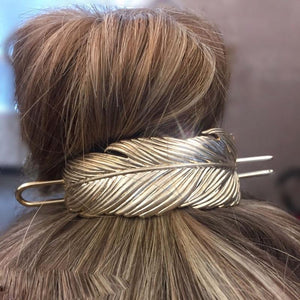 Vintage Feather Bun Cuff