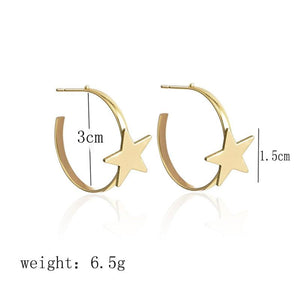 Elegant Star Hoops