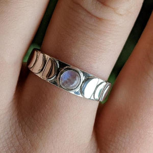 Moon Phase Crystal Ring