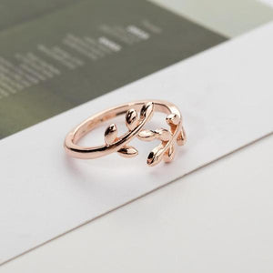 Laurel Leaf Adjustable Wrap Ring