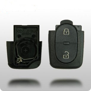 Audi 1997-2006 3-Button Remote Shell only (ROUND BUTTONS) - ZIPPY LOCKSHOP