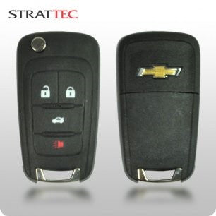 Chevy 2010-2015 4-Btn Flippy Remote Head Key (STRATTEC 5912543) - ZIPPY LOCKSHOP