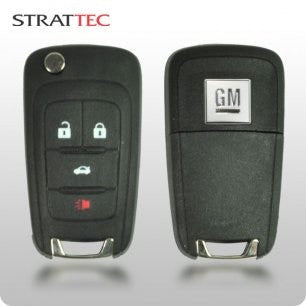 2010-2015 GM Logo 4-Btn Flippy Remote Head Key (STRATTEC 5913396) - ZIPPY LOCKSHOP