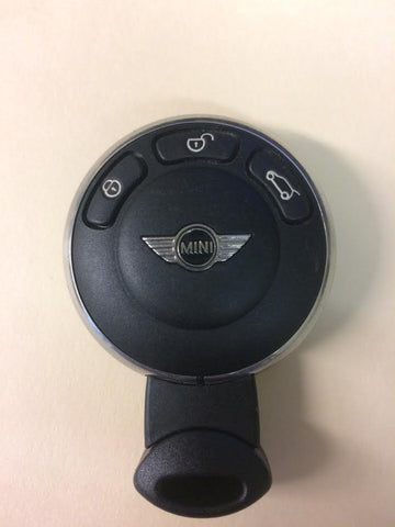 Mini Cooper 2006-2013 3 Btn FOB Remote w/ Insert Blade (Original) - FCC ID: KR55WK49333 - ZIPPY LOCKSHOP