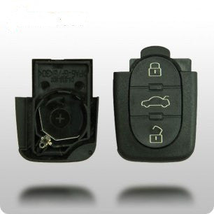 Audi 1997-2006 4-Button Remote Shell only (ROUND BUTTONS) - ZIPPY LOCKSHOP