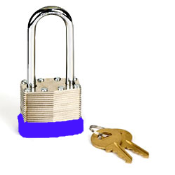 Padlock - 40mm Long Shackle with 2 keys