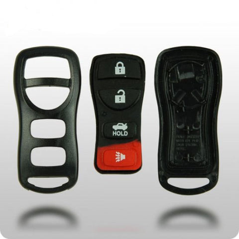 Nissan 4-Button Remote Shell with Rubber Pad - ZIPPY LOCKSHOP