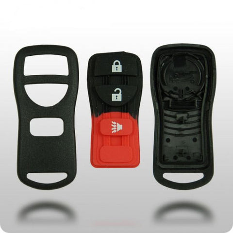Nissan 3-Button Remote Shell with Rubber Pad - ZIPPY LOCKSHOP