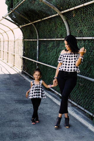 Mommy and Baby Matching Tops - Black & White Cheetah Sweaters