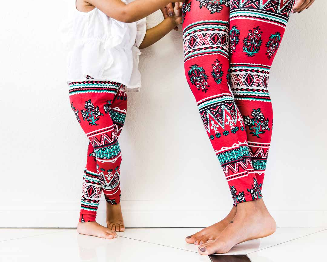 Leggings - matching pants - mom and daughter