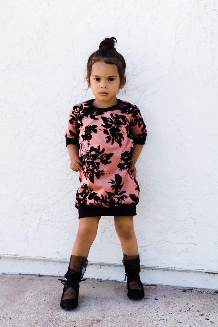 Pink Beige sweater dress for toddler