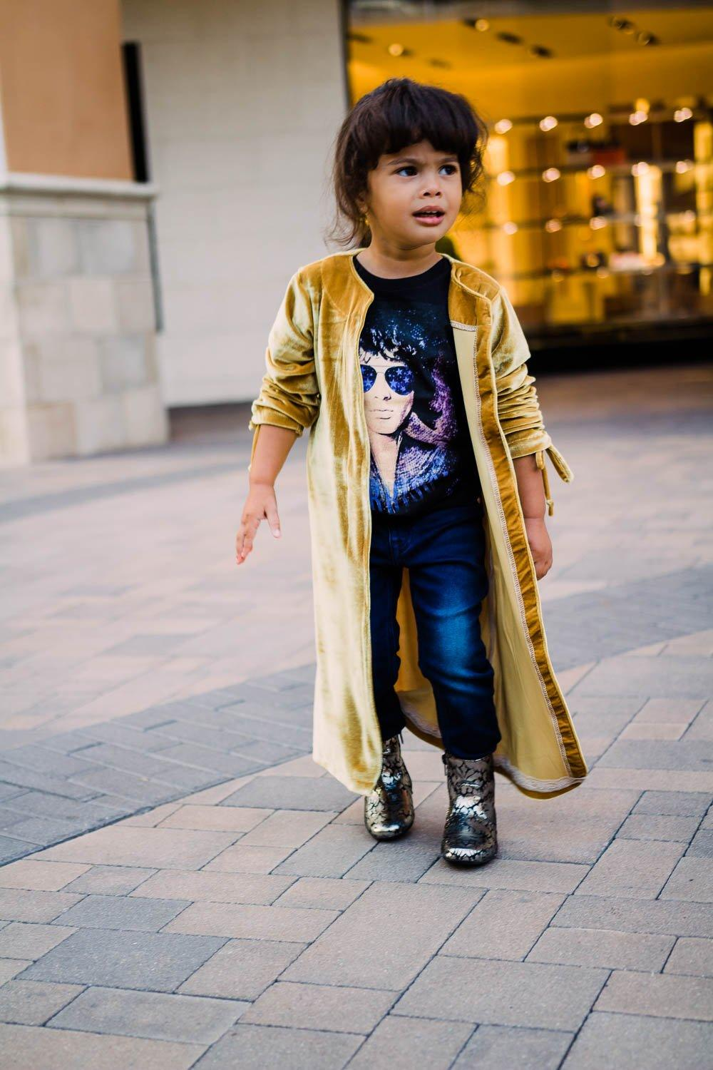 Cardigan Wrap - Gold Cardigan Toddler Girls - Ruched Sleeves