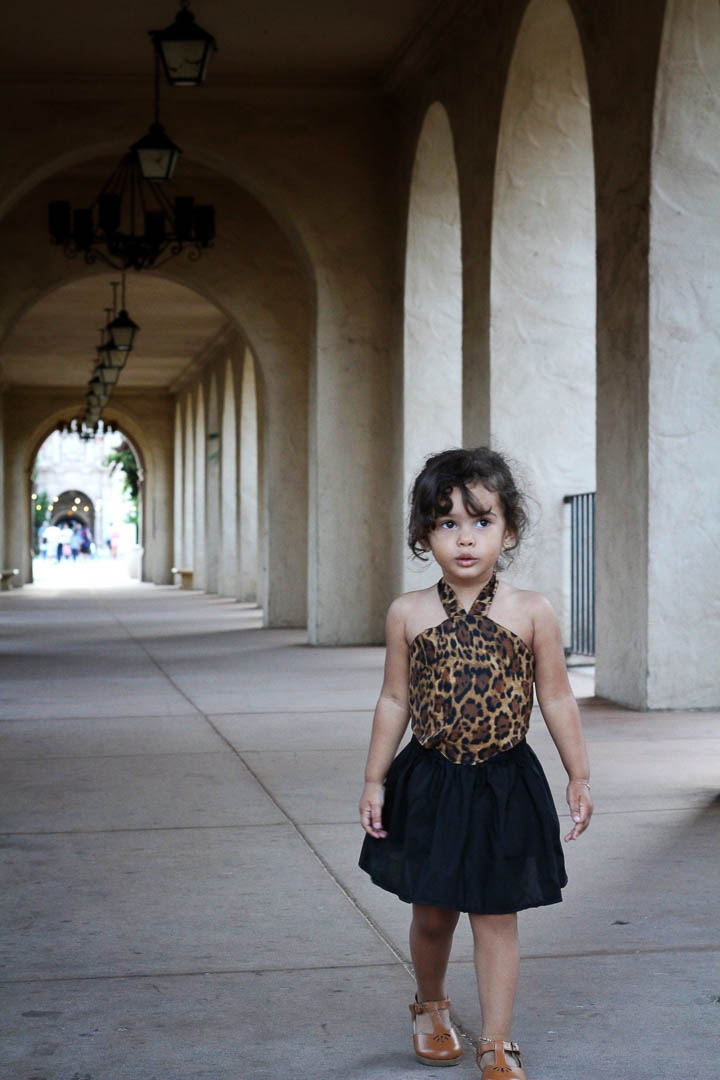 Dress - Animal Print Dress For Toddlers - Brown & Black Cheetah