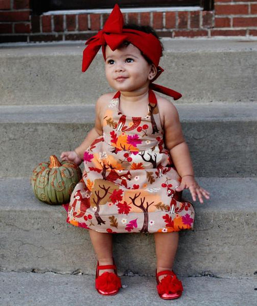 Dress - Baby Girl Thanksgiving Outfit