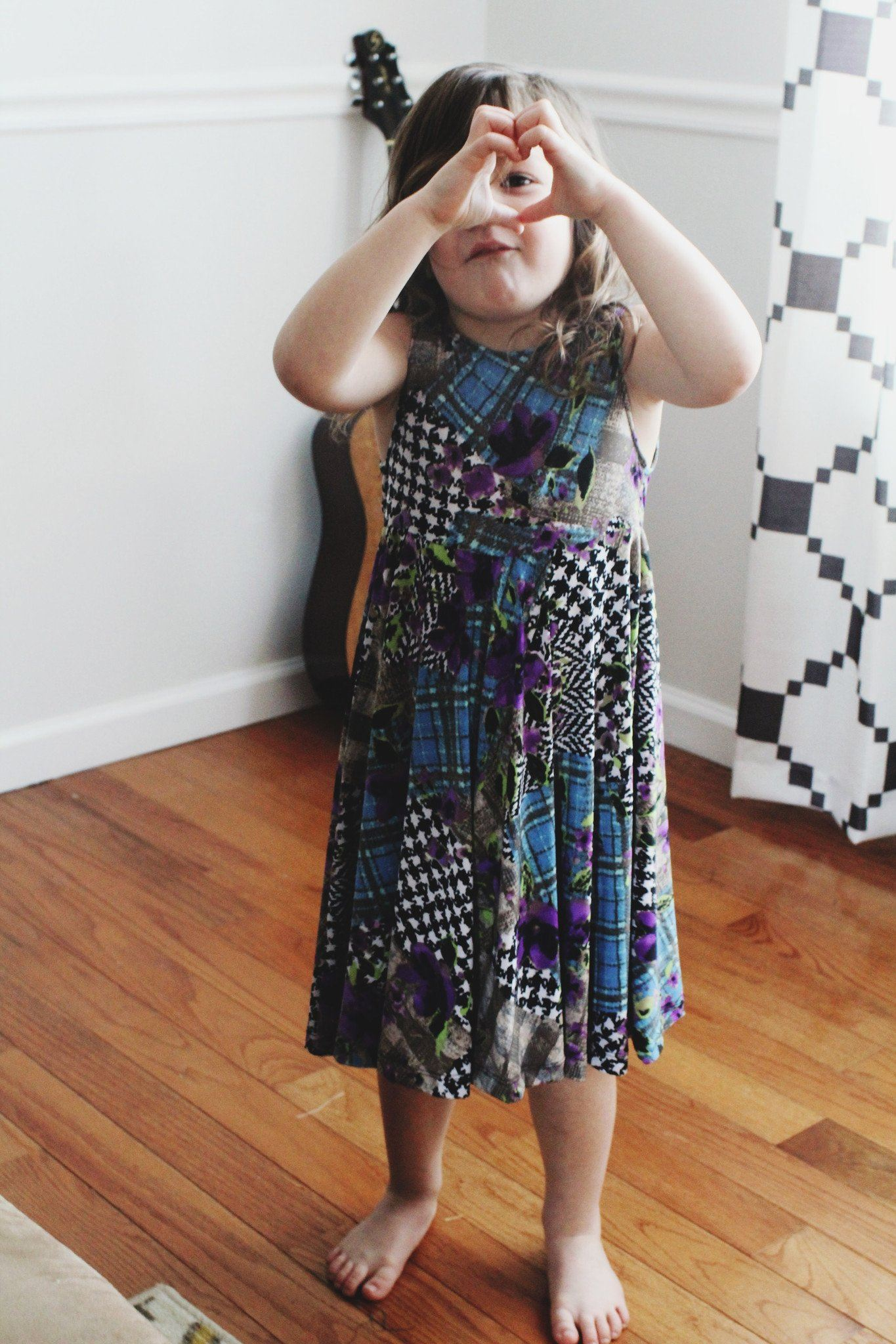 Dress - Purple Patchwork Toddler Dress