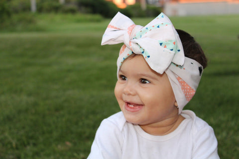 Yellow Head Wrap for Baby Girl