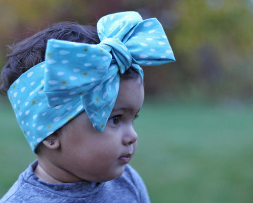 Head Wrap - Baby Hair Accessories - Blue Headwrap