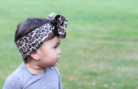 Cheetah Headband for Baby Girl and Mom