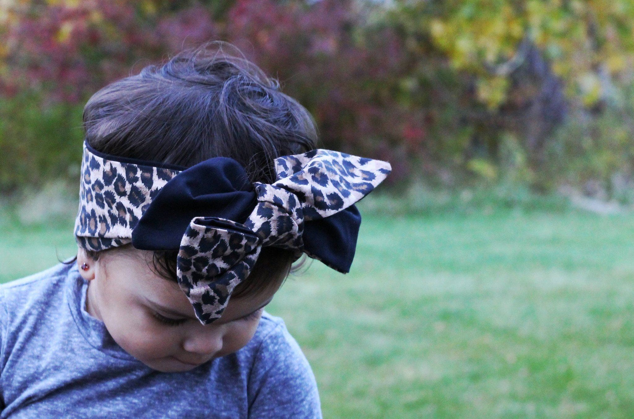 Head Wrap - Baby Hair Accessories - Cheetah Print Headwrap