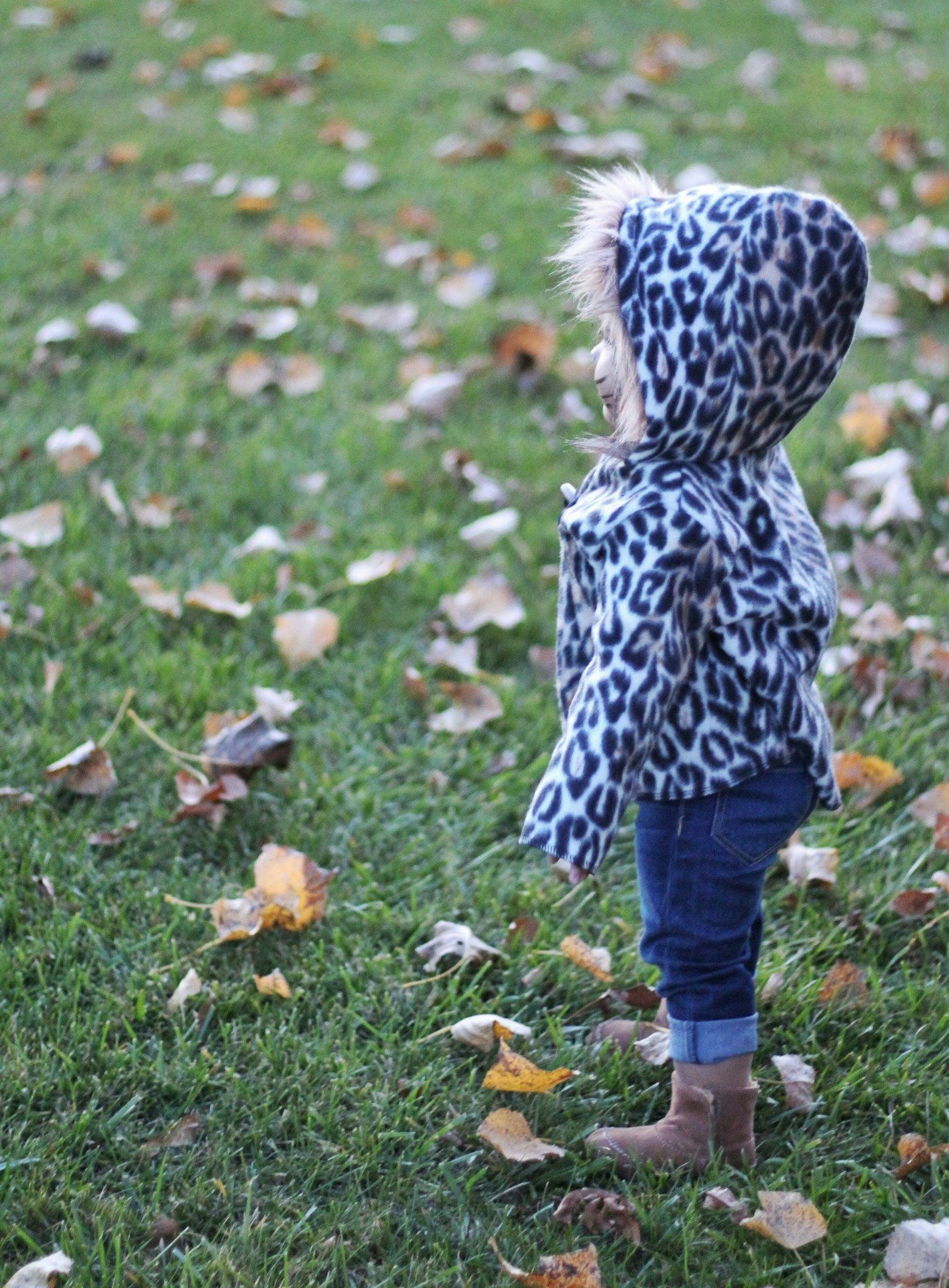 Jacket - Baby Fleece Jacket - Cheetah Print