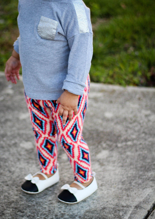 Leggings - Diamong Aztec Print Baby Leggings