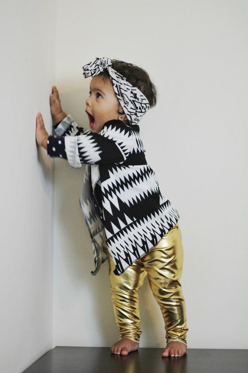 Leggings - Metallic Gold Leggings For Toddlers