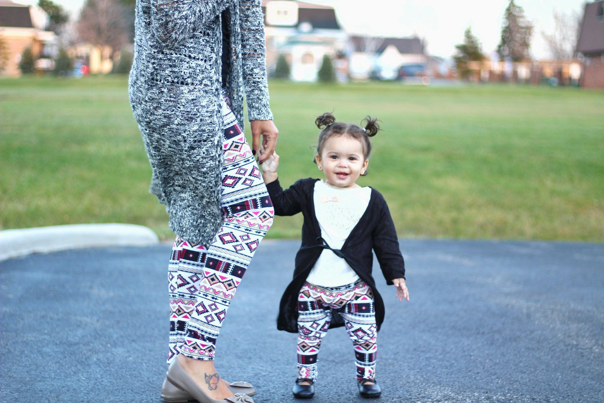 Leggings - Mommy And Baby Matching Aztec Leggings