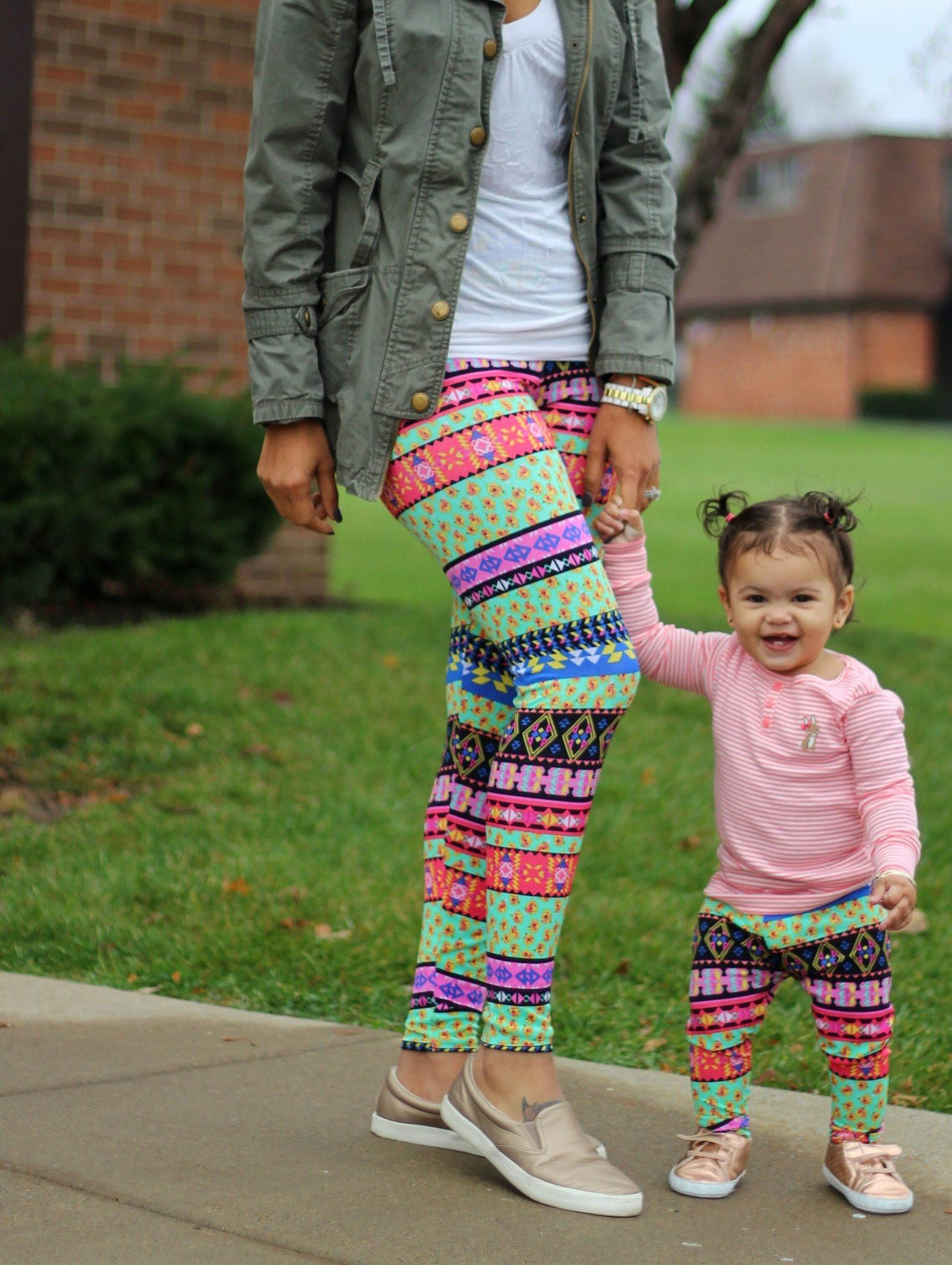 Leggings - Mommy And Baby Matching Rainbow Leggings