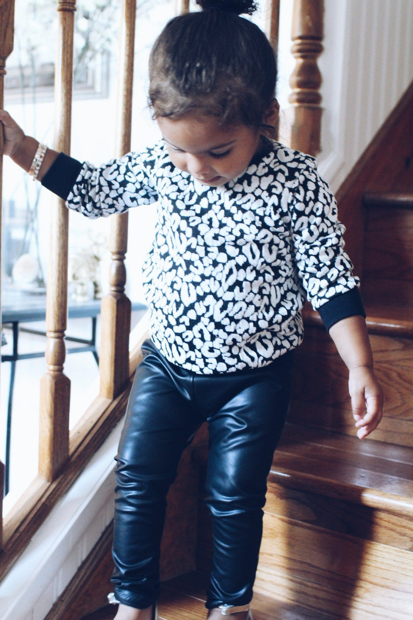 Leggings - Toddler Leather Leggings For Fall