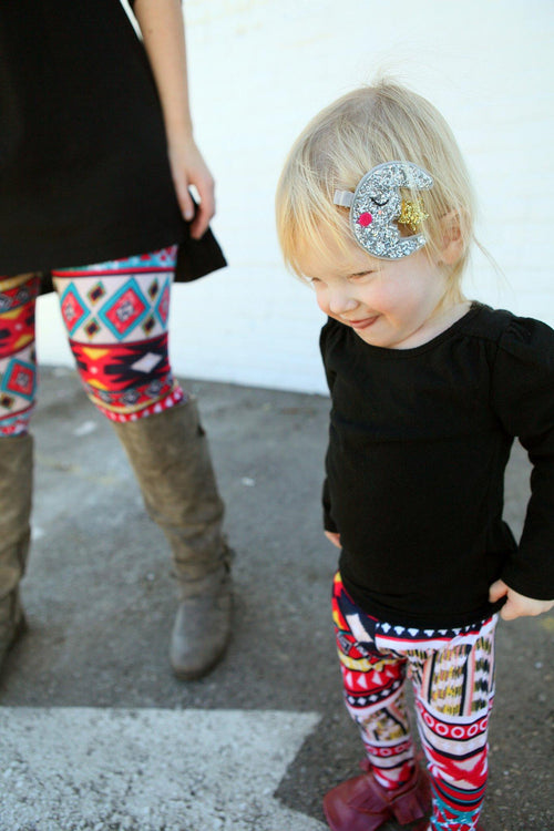Leggings - Tribal Leggings For Kids - Colorful Aztec Print