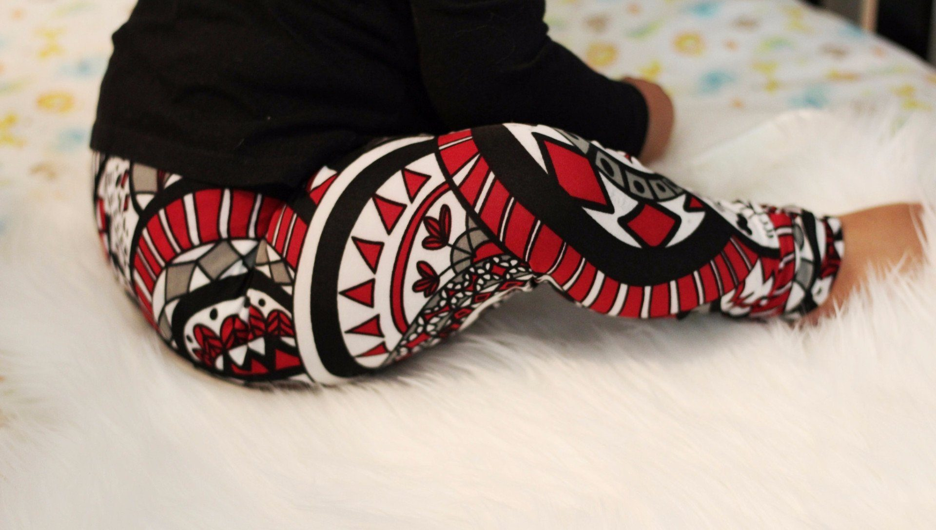 Leggings - Tribal Pants For Children's - Colorful Aztec