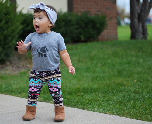 Leggings - Tribal Yoga Pants For Baby Girl