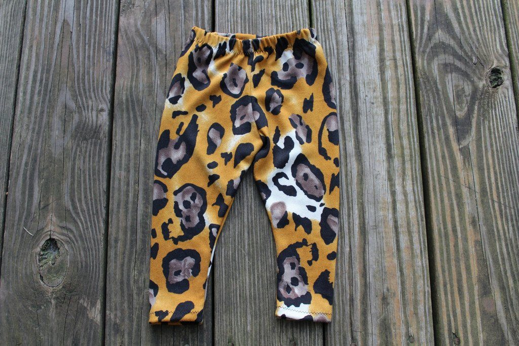 Leggings - Unisex Baby Leggings - Leopard