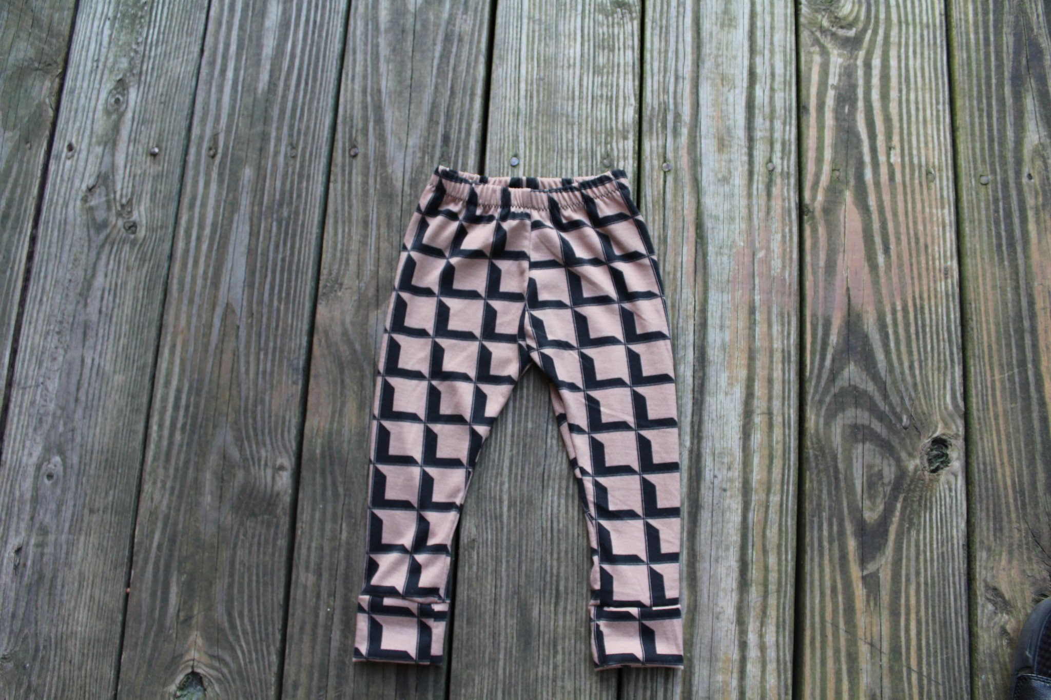Leggings - Unisex Toddler Leggings Brown & Black