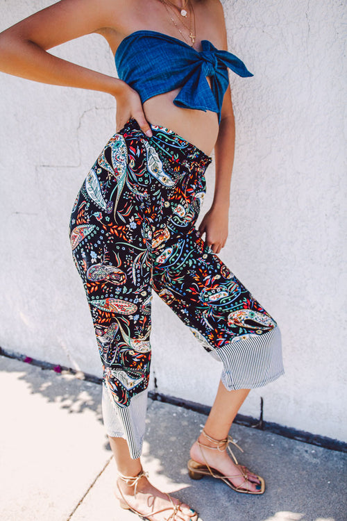 long culotte pants, women