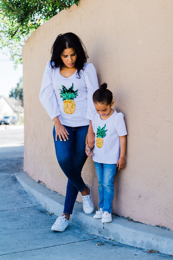 Puffy Pineapple Top | Girls