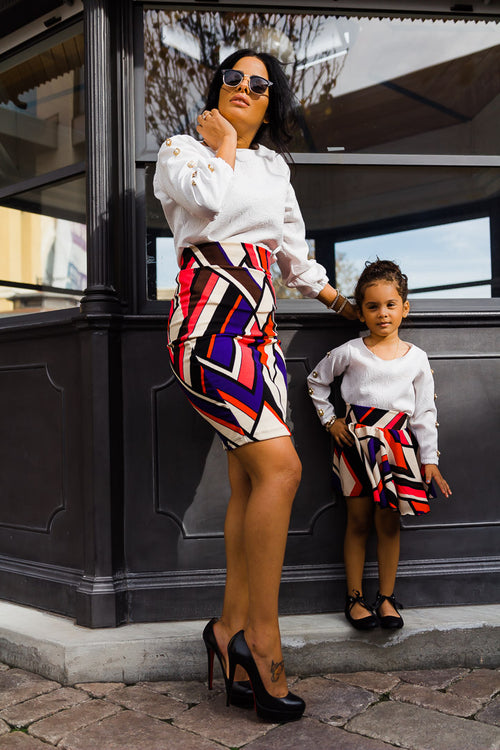 mommy and daughter matching skirts