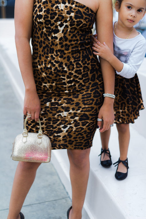 mother daughter matching leopard print