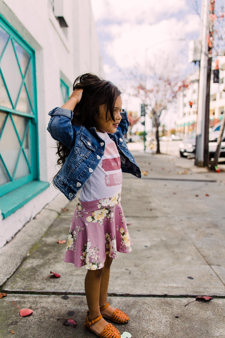 pink toddler skirt