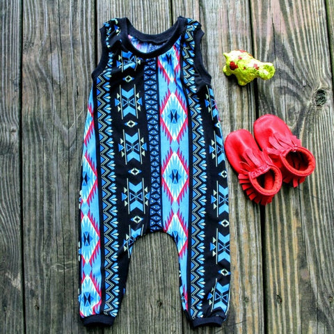 Custom Made Baby Girl Romper - Paisley Brown