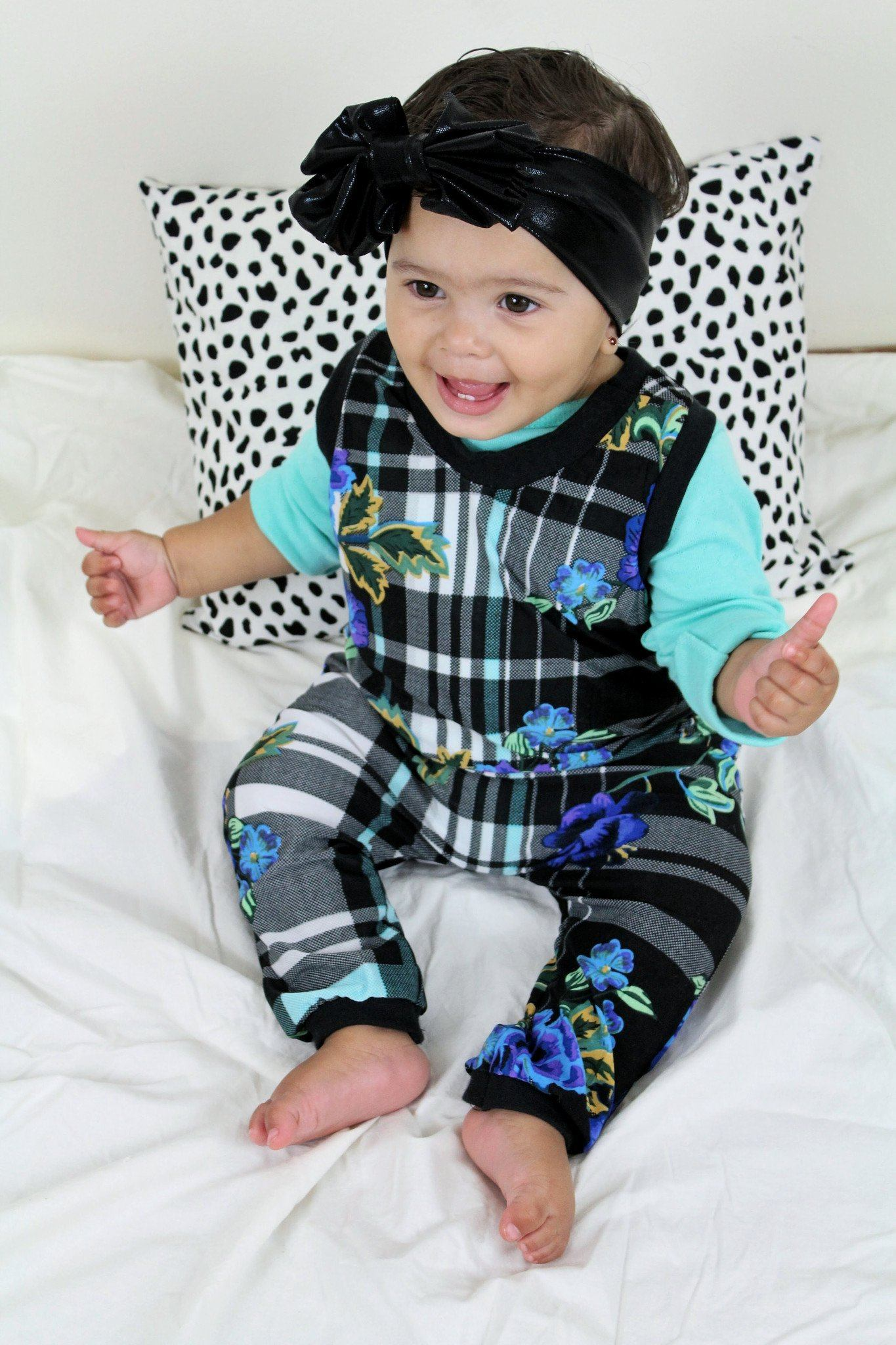 Romper - Fall Romper For Babies - Buffalo Plaid