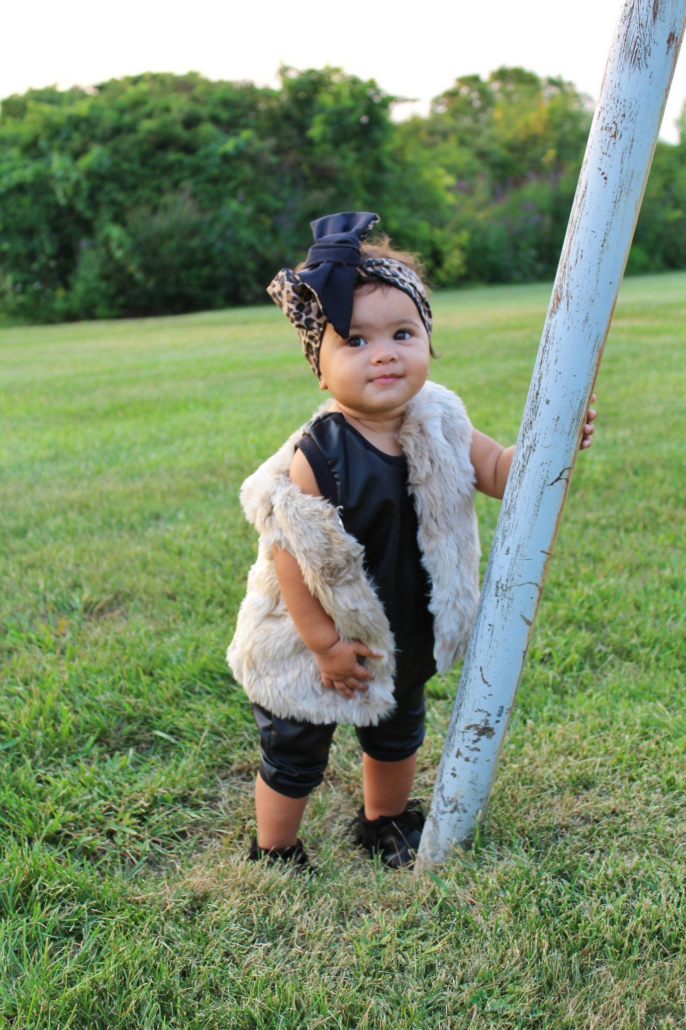 Romper - Faux Leather Romper For Kids