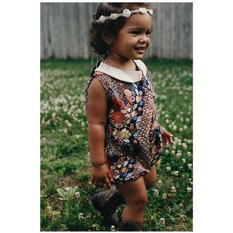 Vintage Toddler Crop Top - Red Birds
