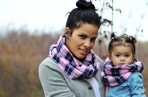 Scarf - Mommy And Me Infinity Scarf Set - Buffalo Check