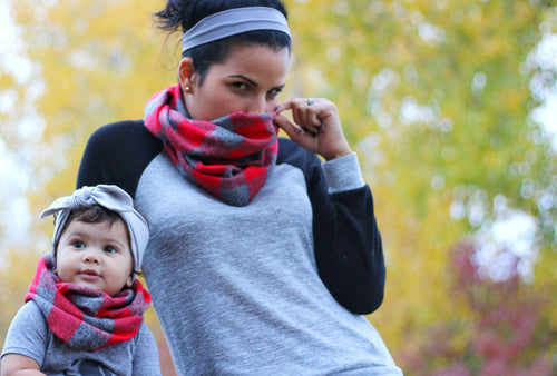 Scarf - Mommy And Me Scarf Set - Buffalo Plaid