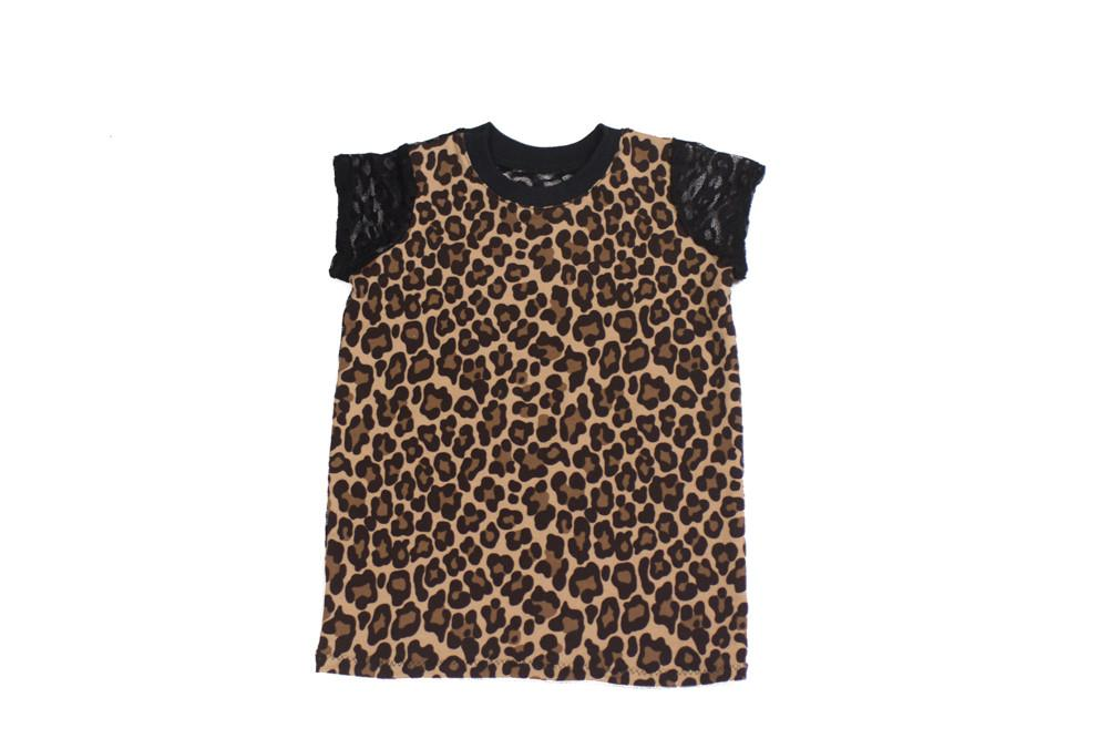 Shirt - Designers Cheetah Print T Shirt For Children